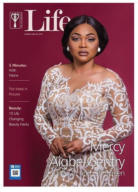 mercy aigbe on guardian life magazine