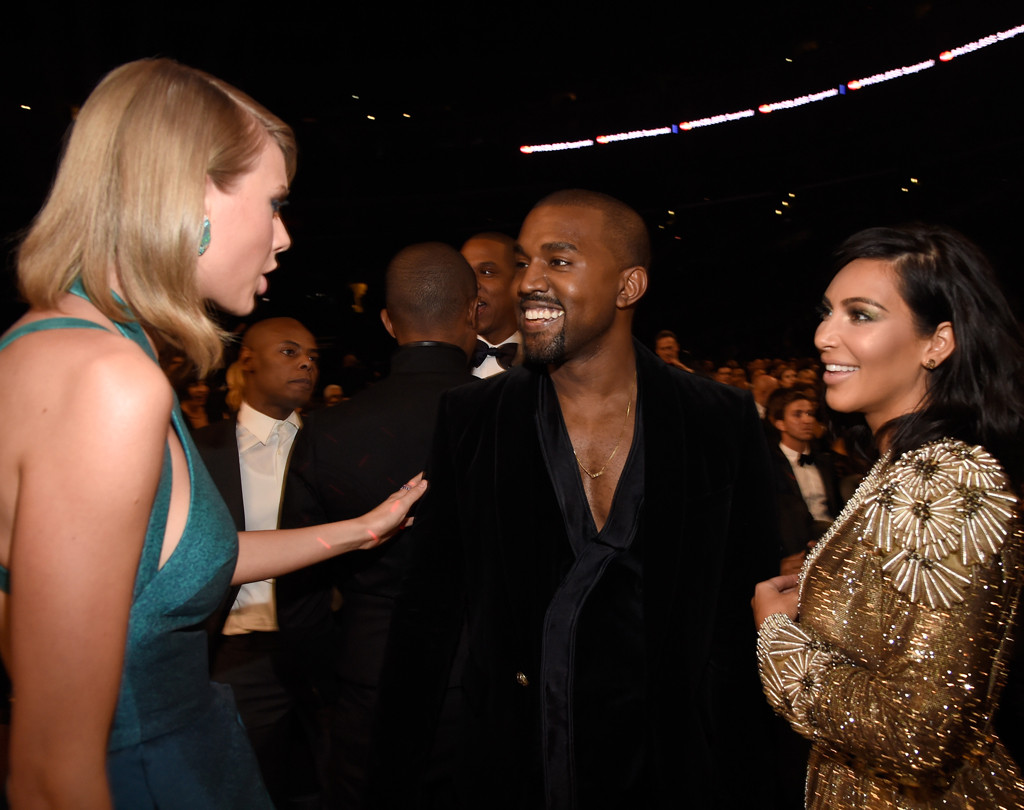 kim kardashian taylor swift kanye west famous