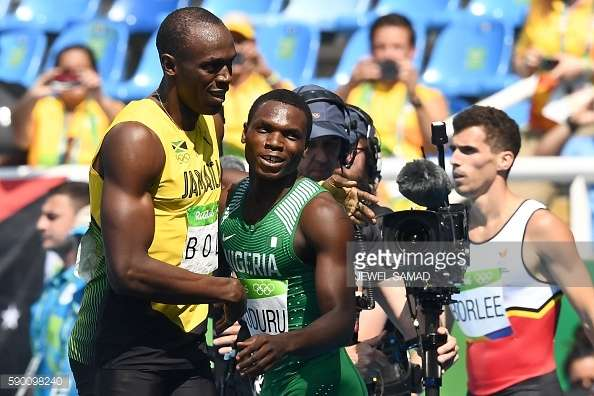 divine oduduru comes secnd after usain bolt